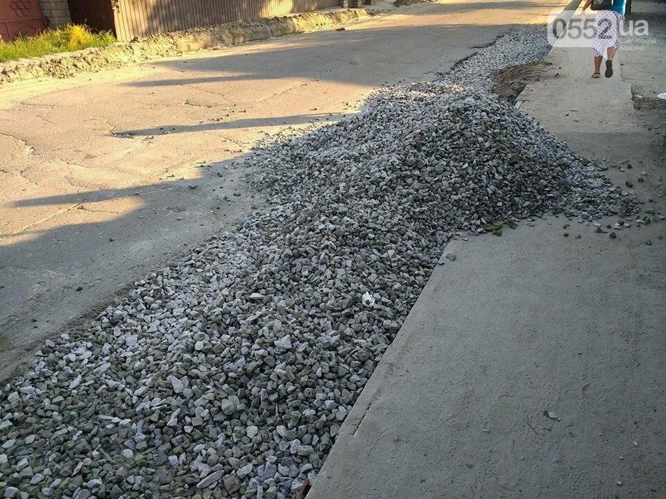 Ремонт дороги в райцентре Херсонщины затрудняет движение автомобилей и пешеходов, фото-5