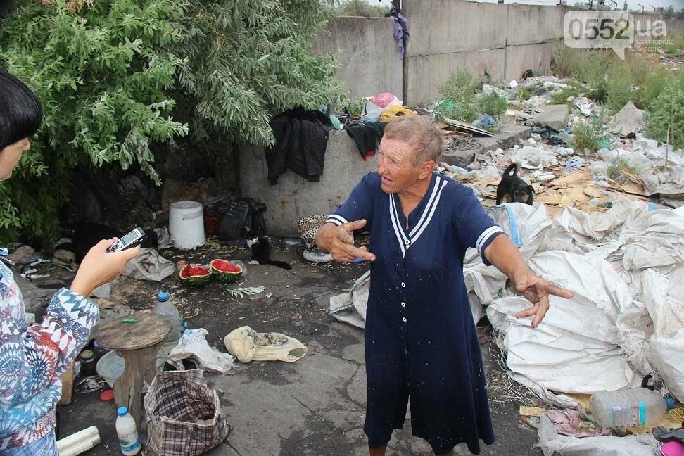 На херсонской свалке работают бездомные с детьми и получают зарплату, фото-3