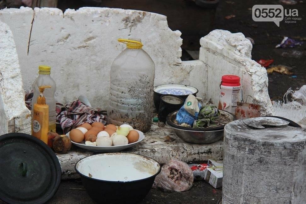 На херсонской свалке работают бездомные с детьми и получают зарплату, фото-4