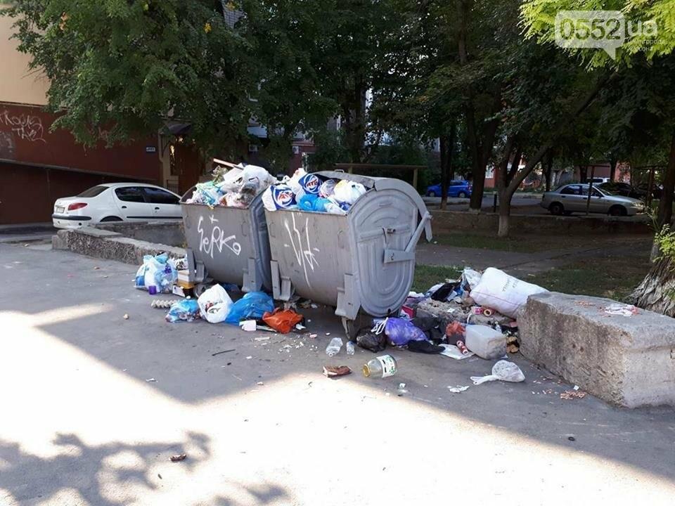 Центр Херсона утопает в мусоре, фото-1