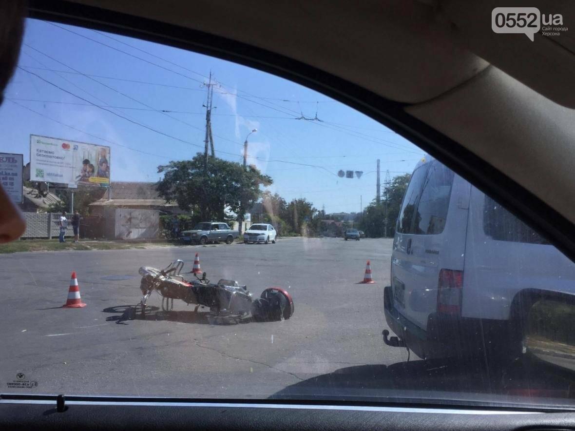 В Херсоне ДТП с мотоциклистом, фото-3