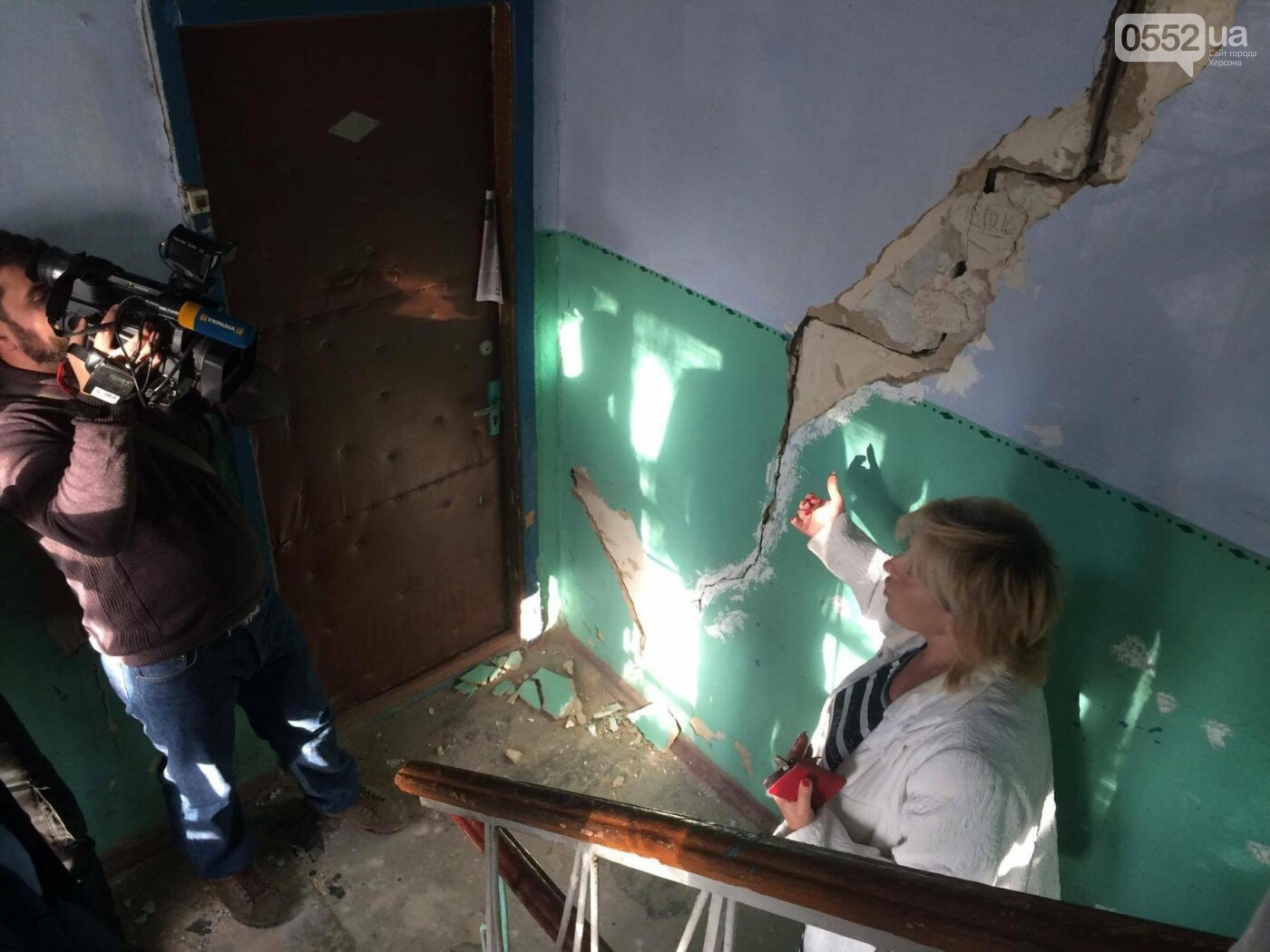 В Херсоне глава ОГА встретился с жильцами аварийного дома, фото-3