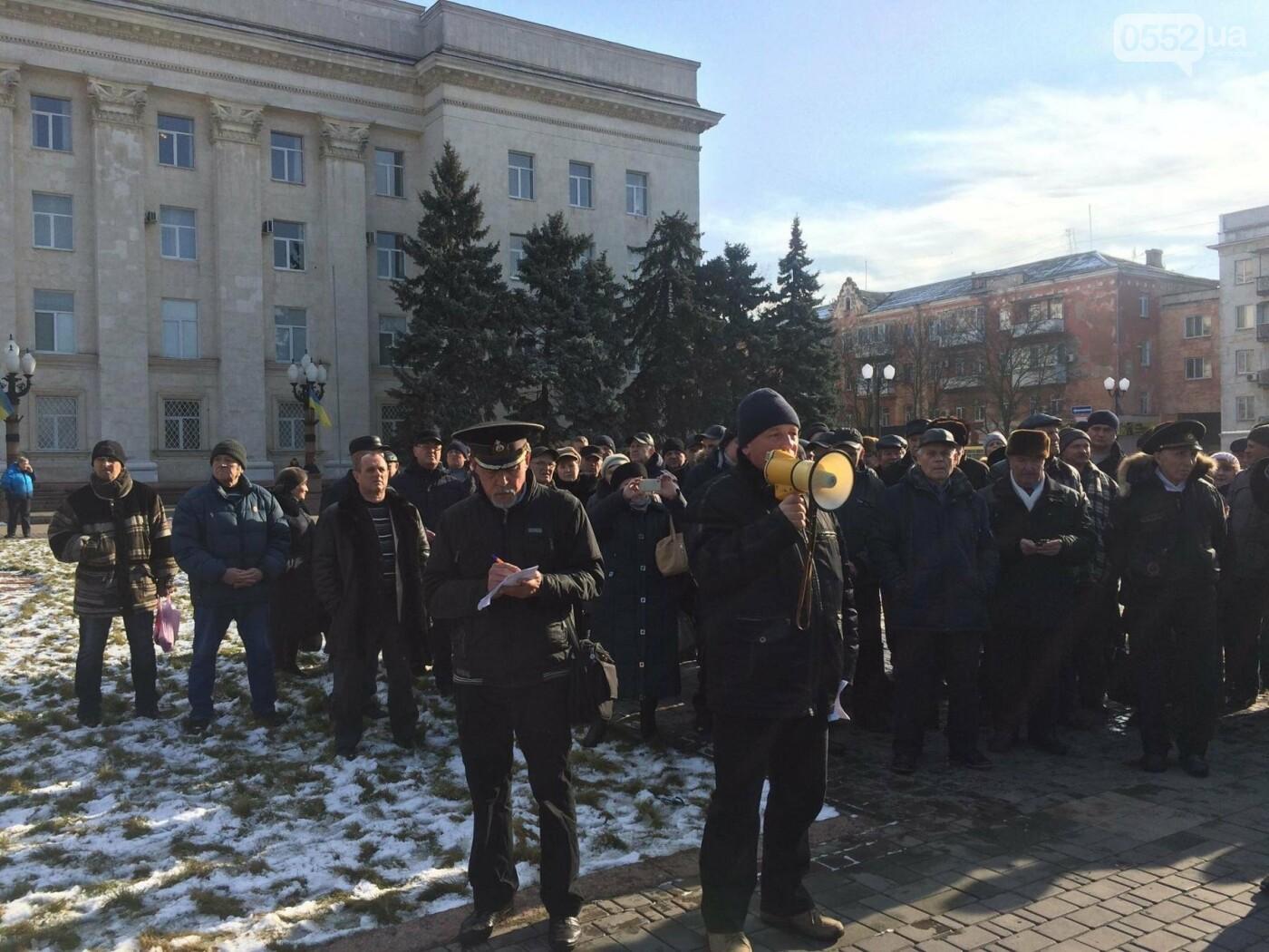 В Херсоне на митинг вышли военные пенсионеры , фото-2