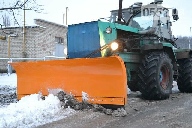 Отвал для уборки снега на тракторе
