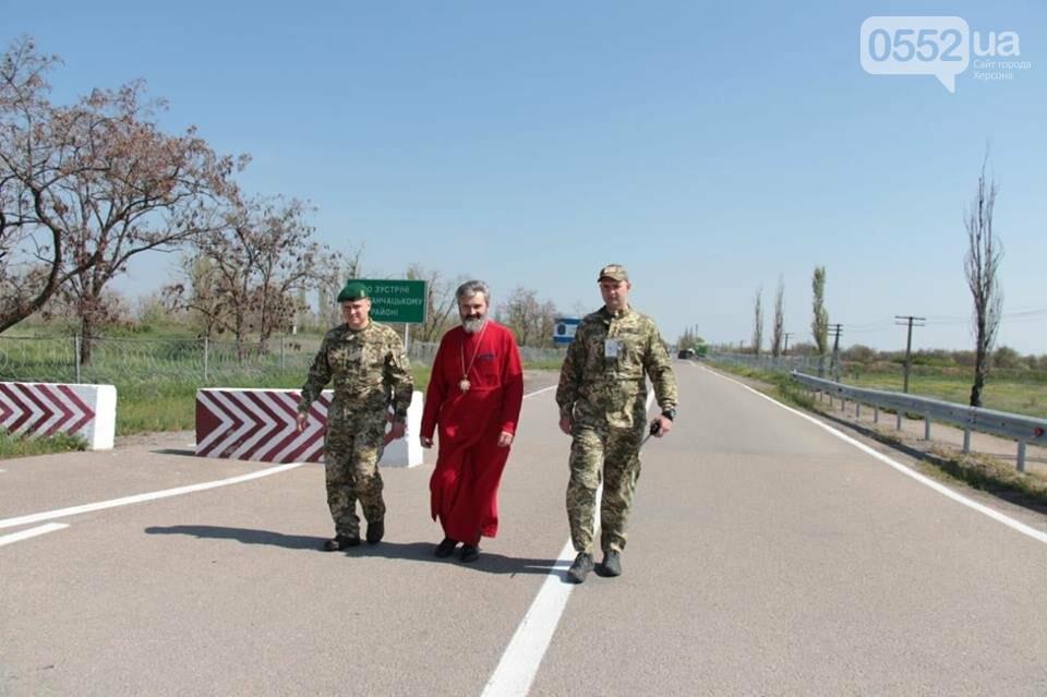 Благодатный огонь в Крым передали пограничники Херсонской области , фото-2