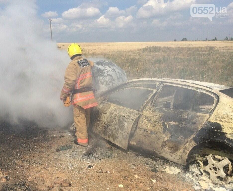 На Херсонщине машины вспыхивают, как факелы: за сутки пожарные дважды тушили иномарки, фото-2