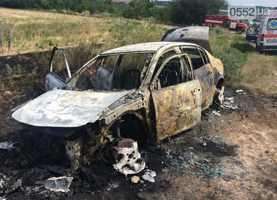 На Херсонщине машины вспыхивают, как факелы: за сутки пожарные дважды тушили иномарки, фото-1