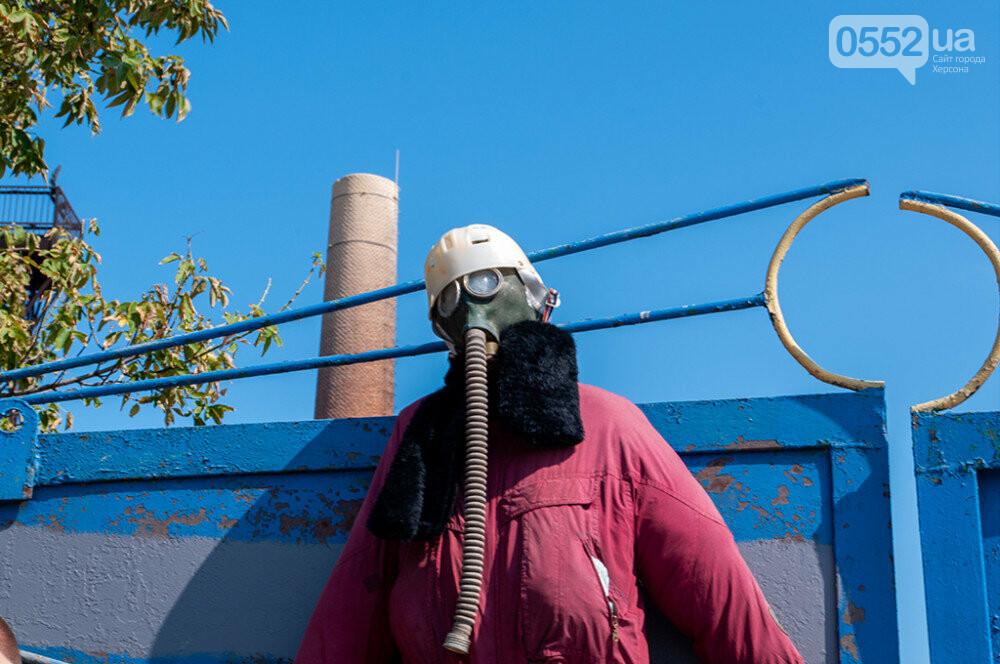 Мэра Херсона и участников акции протеста не пустили на территорию «вонючего завода» (ФОТО), фото-1