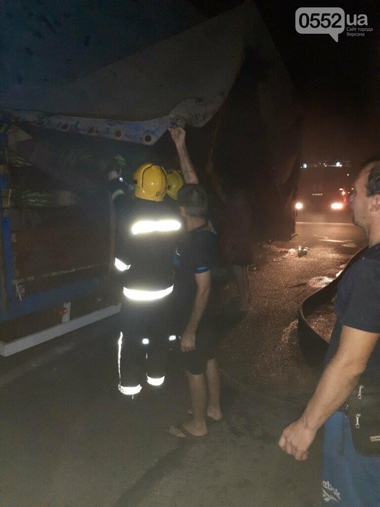 На Херсонщине фура с арбузами вспыхнула, словно спичка: пожар из-за самовозгорания соломы, фото-7