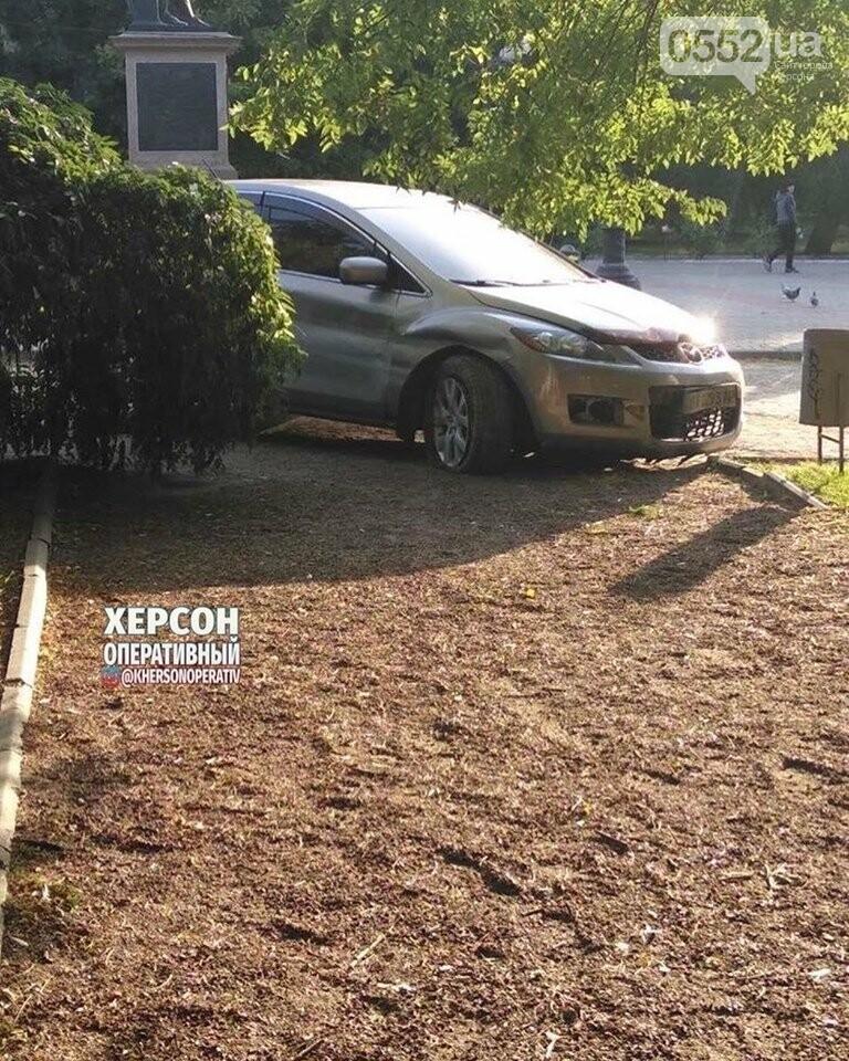 Праздничное ДТП в Херсоне: пьяный водитель едва не снес памятник Потемкину, фото-4