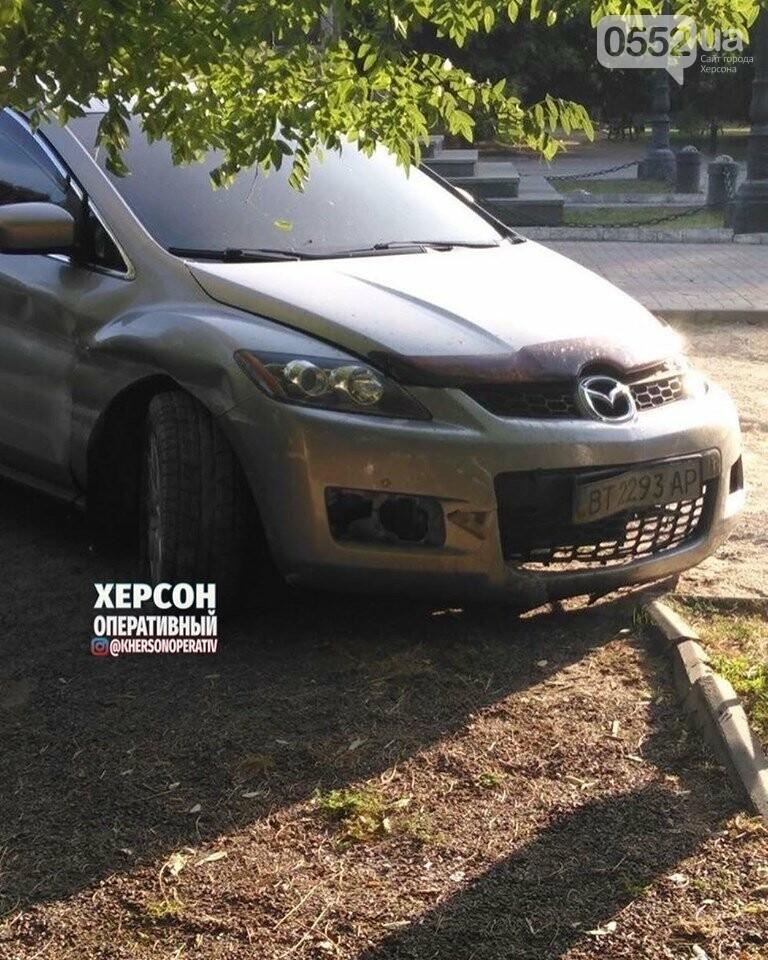 Праздничное ДТП в Херсоне: пьяный водитель едва не снес памятник Потемкину, фото-3