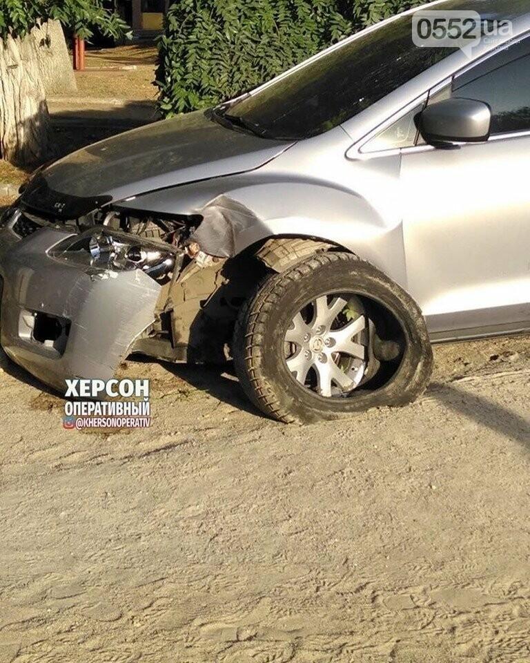Праздничное ДТП в Херсоне: пьяный водитель едва не снес памятник Потемкину, фото-1