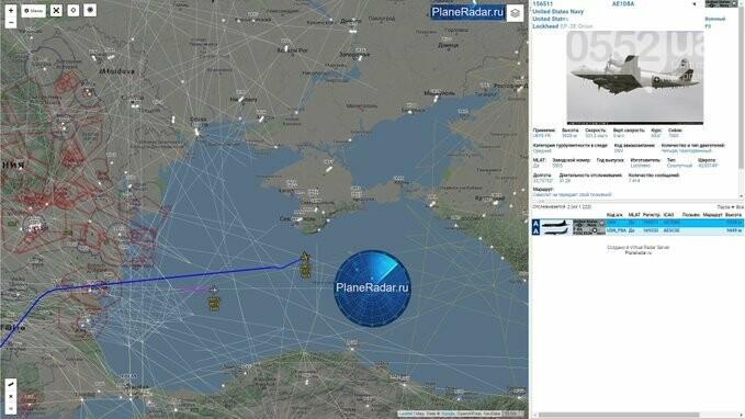 Над Херсонщиной промчался американский самолет-шпион и улетел в сторону Крыма, фото-2