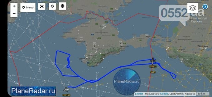 Над Херсонщиной промчался американский самолет-шпион и улетел в сторону Крыма, фото-3