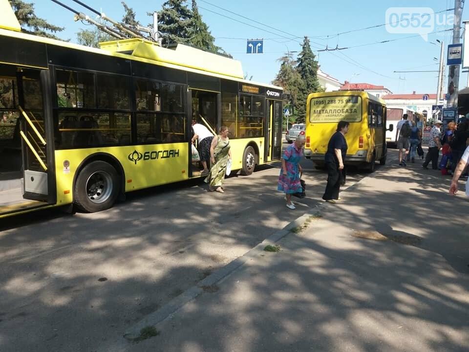 В Херсоне ДТП устроила маршрутка с пассажирами, протаранившая троллейбус, фото-2
