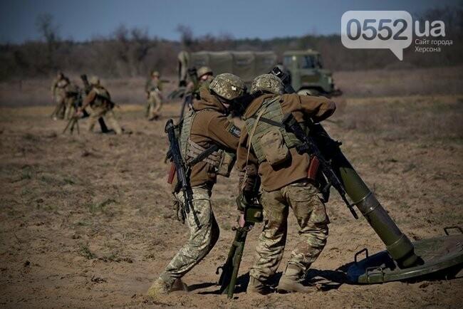 Морская пехота отрабатывает приемы боя на Херсонщине в рамках военных учений (ФОТО), фото-3