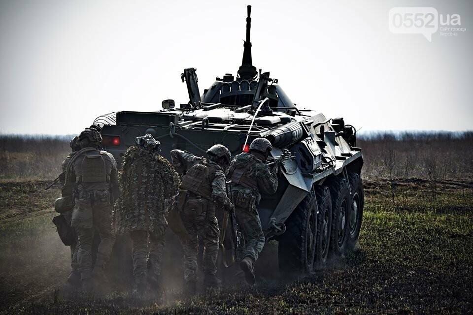 Морская пехота отрабатывает приемы боя на Херсонщине в рамках военных учений (ФОТО), фото-1