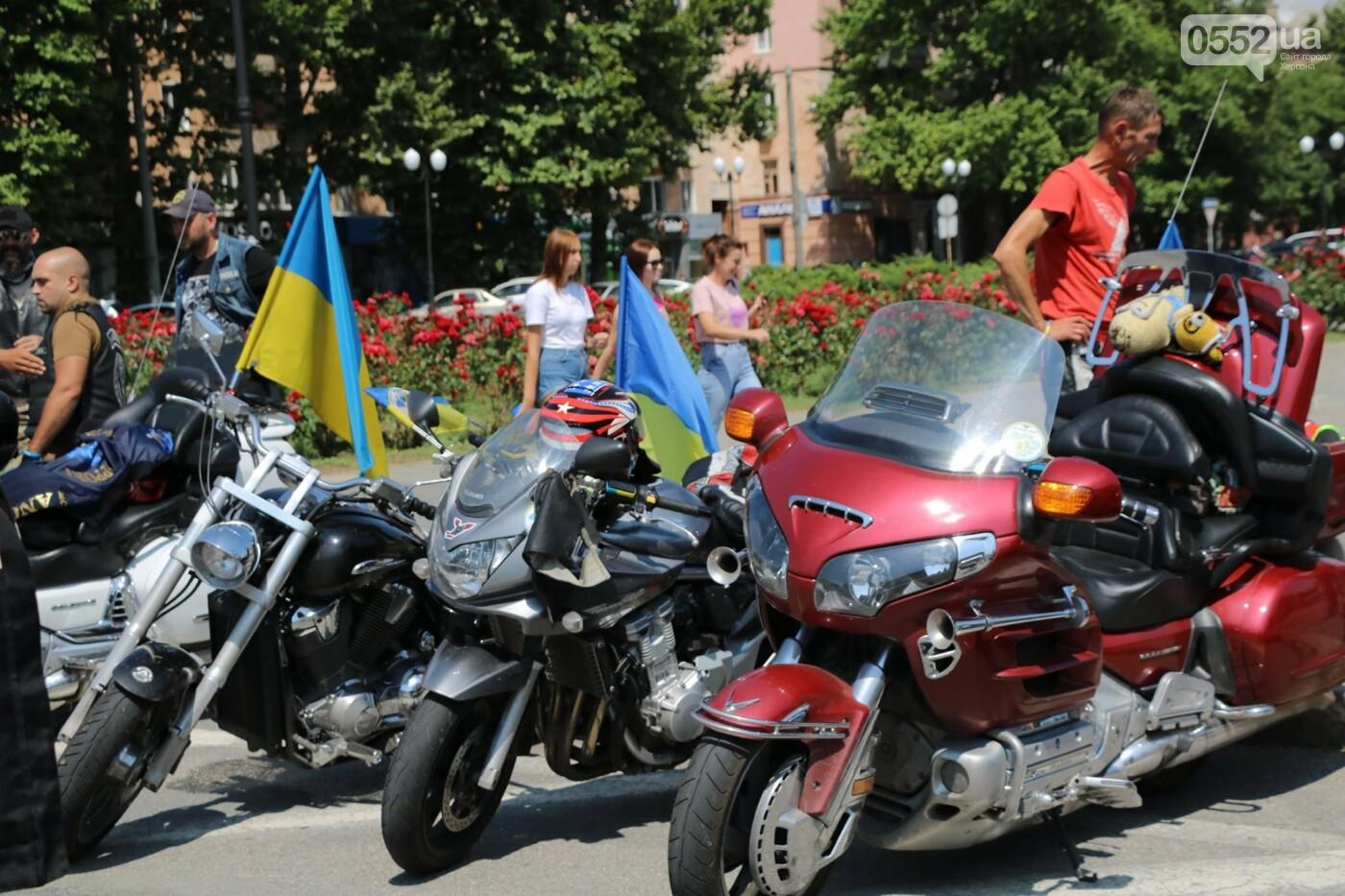 Байкеры на Херсонщине: «Мотопробег единства-2020» едет к границе, фото-1