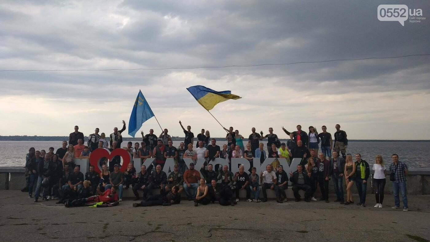 Байкеры на Херсонщине: «Мотопробег единства-2020» едет к границе, фото-9