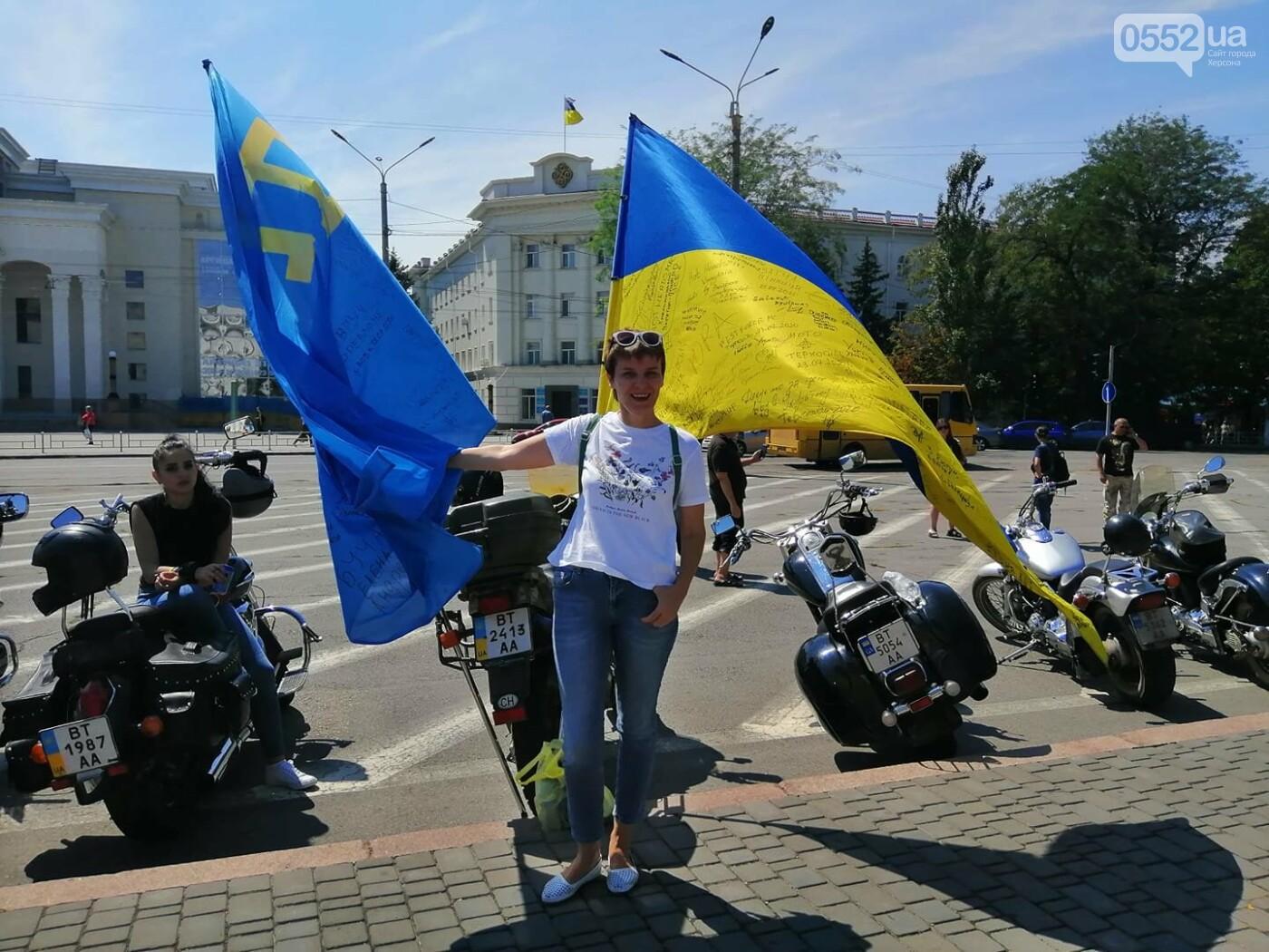 Байкеры на Херсонщине: «Мотопробег единства-2020» едет к границе, фото-4