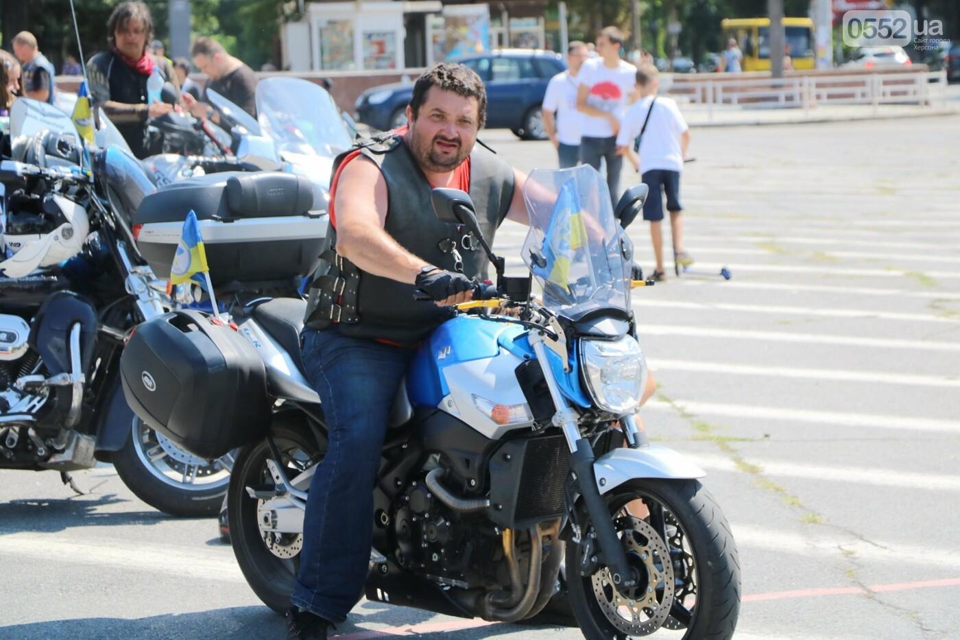 Байкеры на Херсонщине: «Мотопробег единства-2020» едет к границе, фото-5