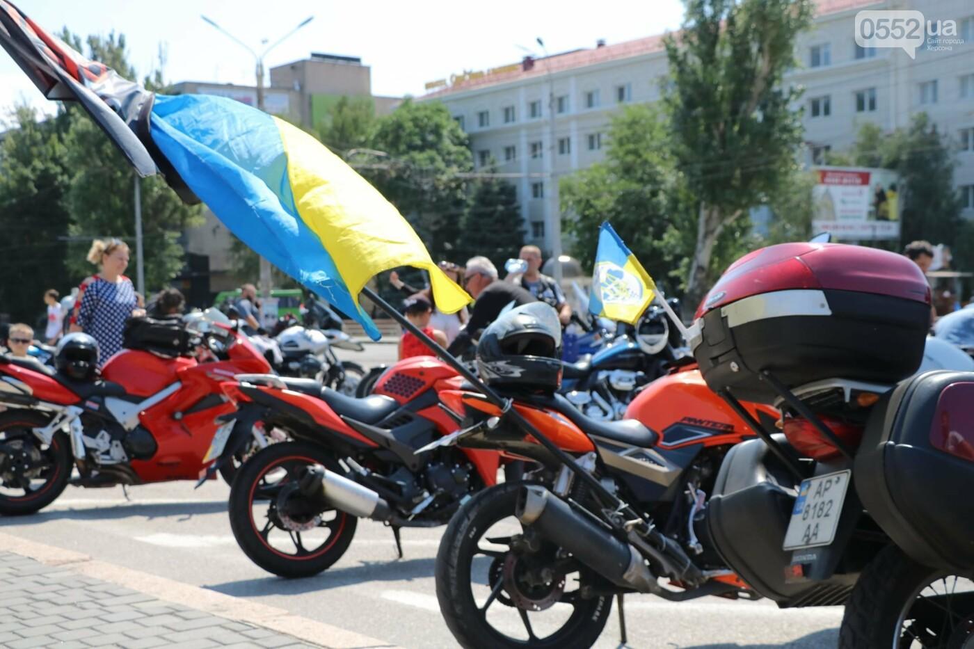 Байкеры на Херсонщине: «Мотопробег единства-2020» едет к границе, фото-6