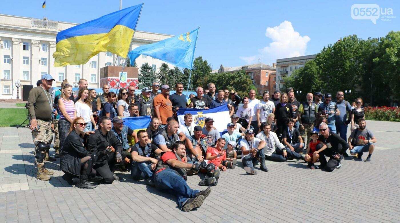 Байкеры на Херсонщине: «Мотопробег единства-2020» едет к границе, фото-7