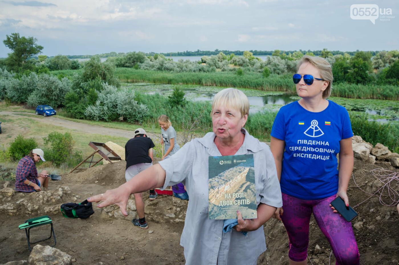 Раскопки в Тягине: найдены остатки стены и фигурный камень, фото-1