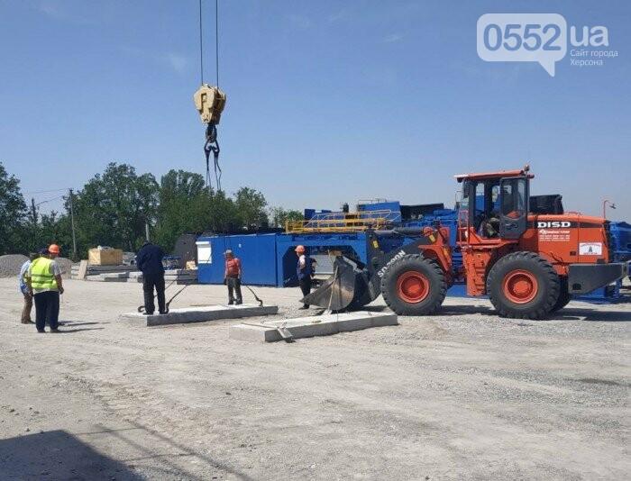 В Новой Каховке за месяц построили новый асфальтобетонный завод, фото-1