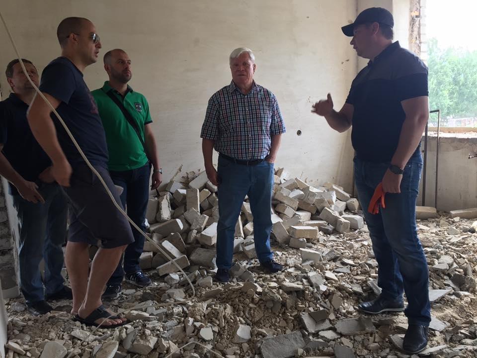 Глава Херсонской ОГА инспектировал будущий Дом Футбола, фото-1
