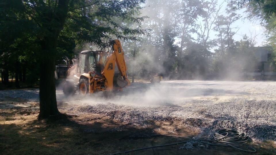 Продолжается строительство спортплощадки Херсонского государственного университета, фото-2