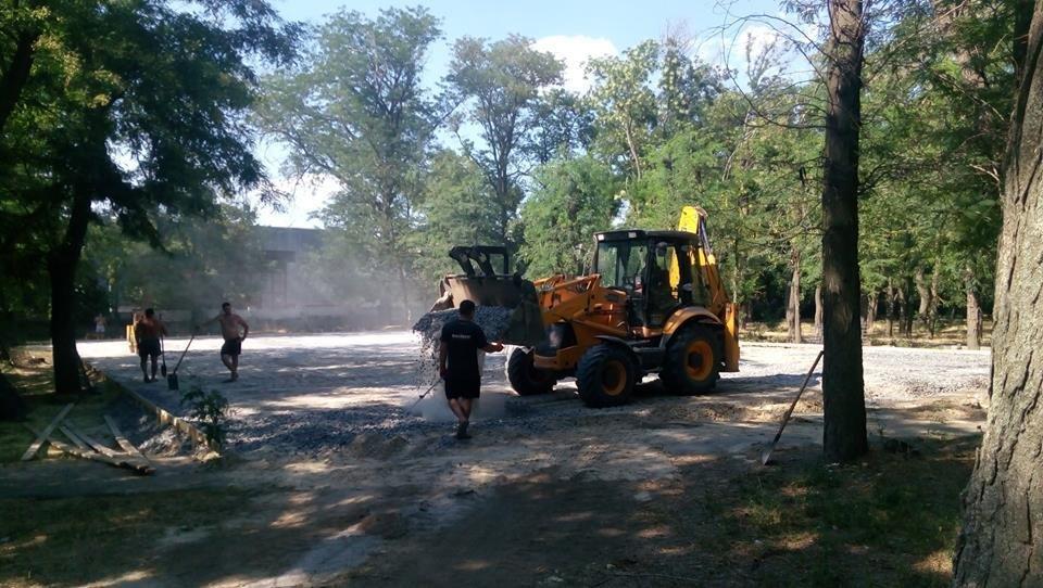 Продолжается строительство спортплощадки Херсонского государственного университета, фото-3