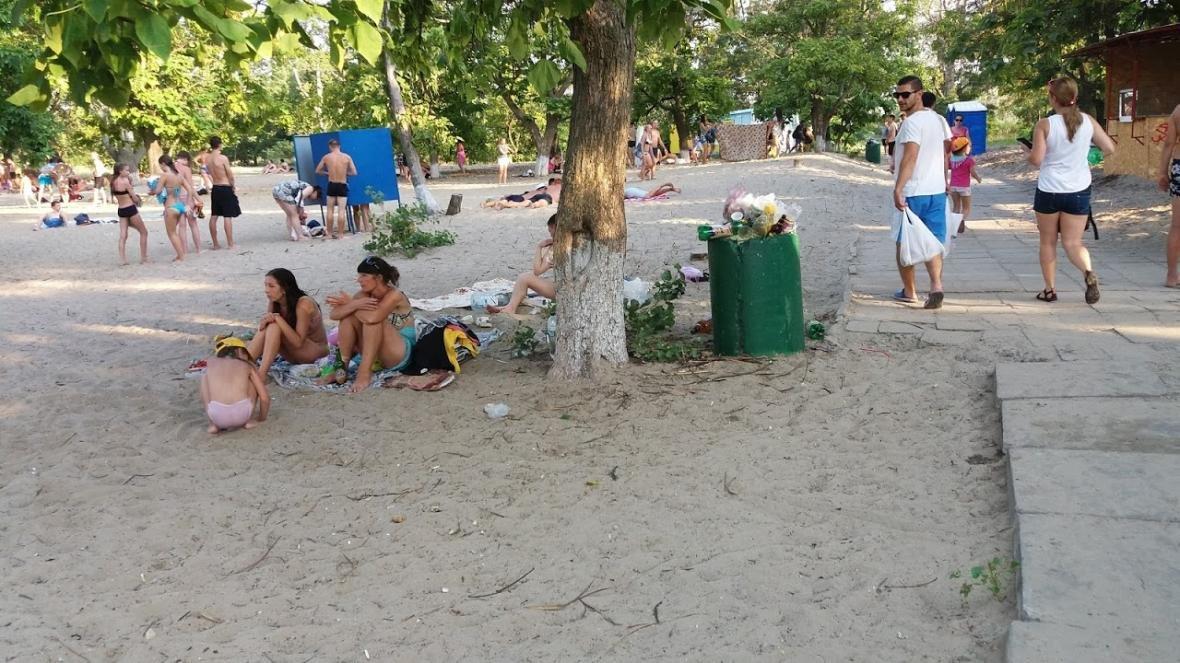 """Херсонка о санитарном состоянии пляжа в """"Гидропарке"""", фото-1"""