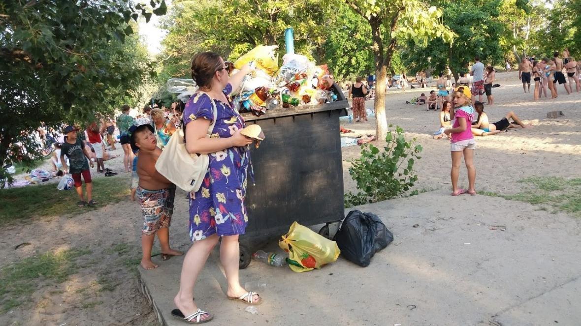 """Херсонка о санитарном состоянии пляжа в """"Гидропарке"""", фото-3"""