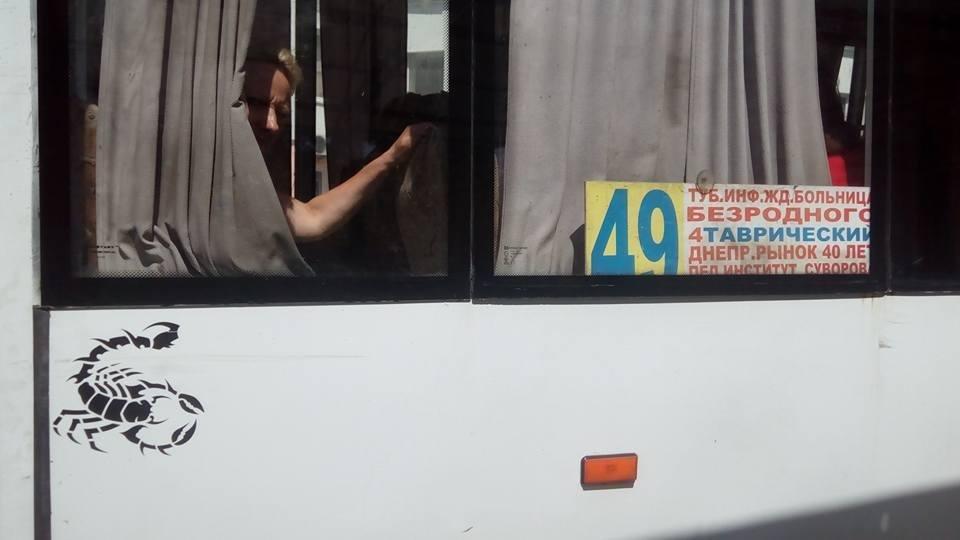 """""""Ни одного поручня или перила"""", - херсонская активистка о салоне маршрутки, фото-1"""