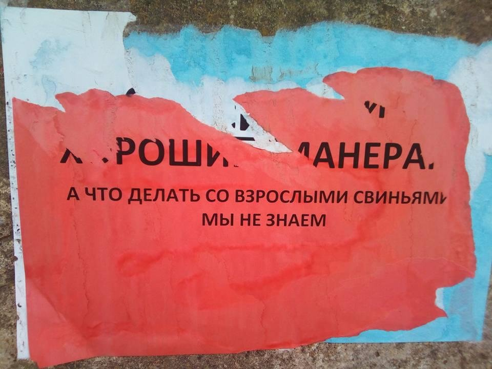 На херсонском курорте с мусором на улицах борются социальной рекламой (фото), фото-1
