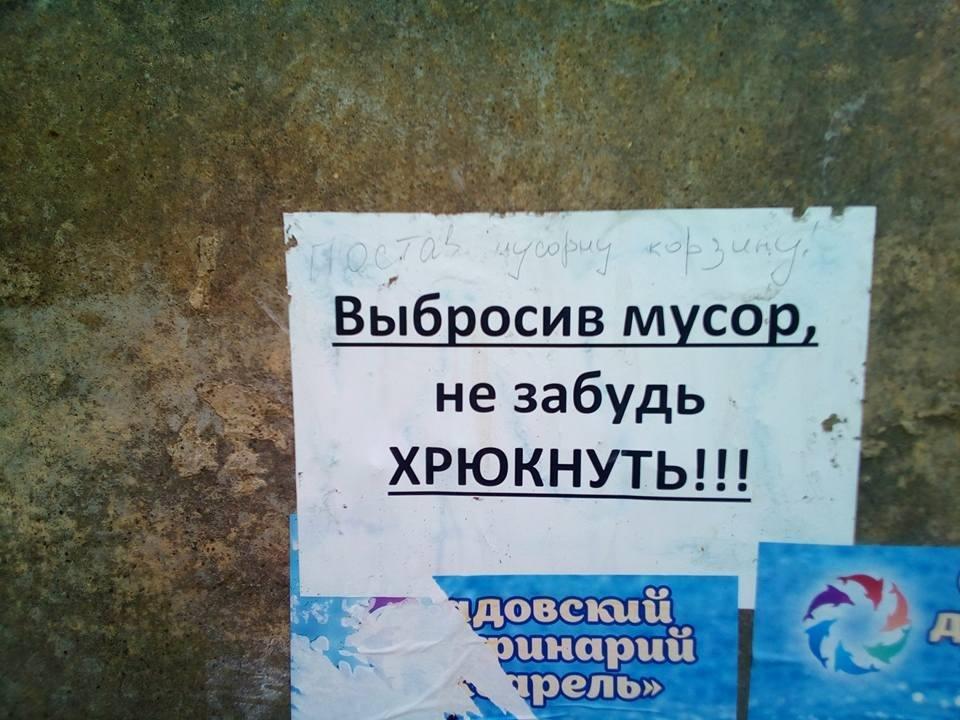 На херсонском курорте с мусором на улицах борются социальной рекламой (фото), фото-3