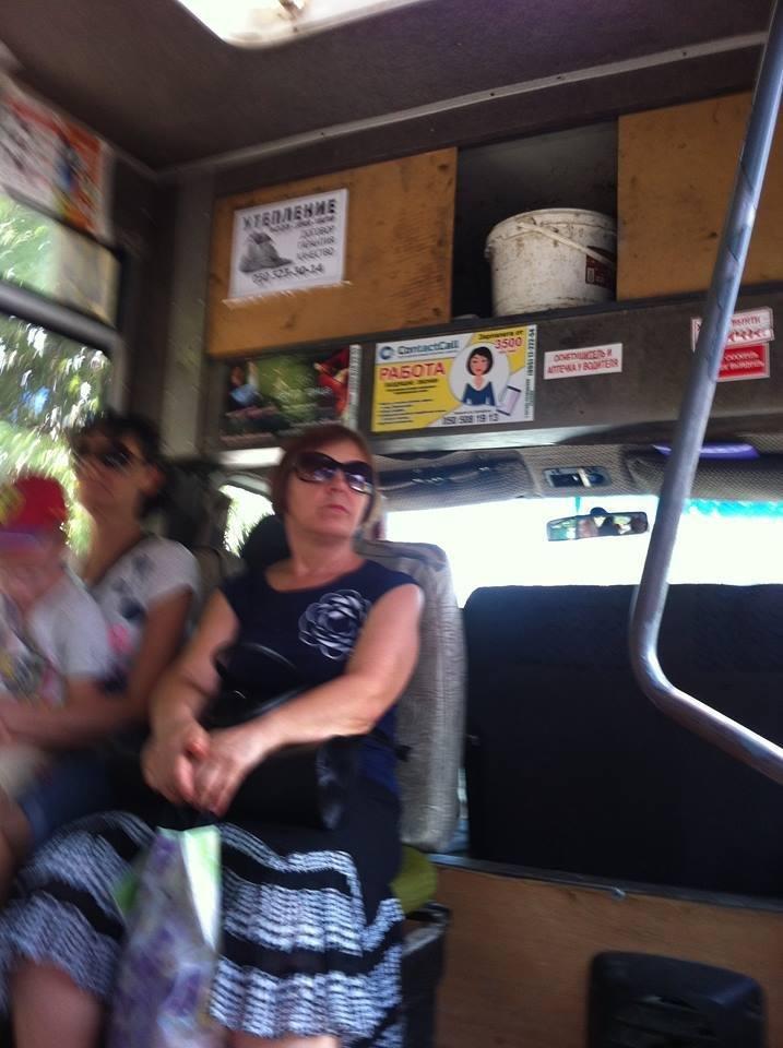 """Сервис"" в херсонской маршрутке удивил херсонцев, фото-1"