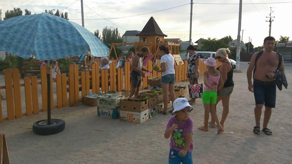 На херсонском курорте детская площадка превратилась в рынок, фото-1
