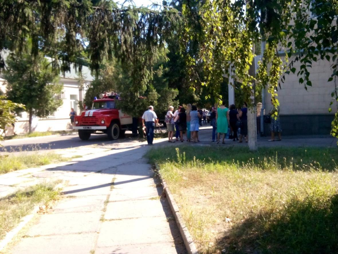 В администрации райцентра Херсонщине случился пожар, фото-1