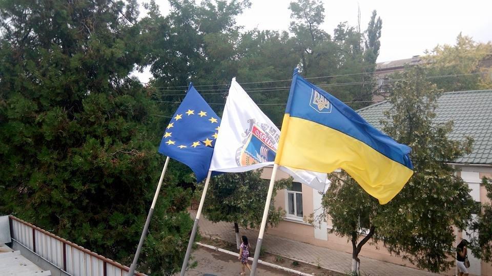 Олешки готуються до свята Державного Прапора України, фото-1