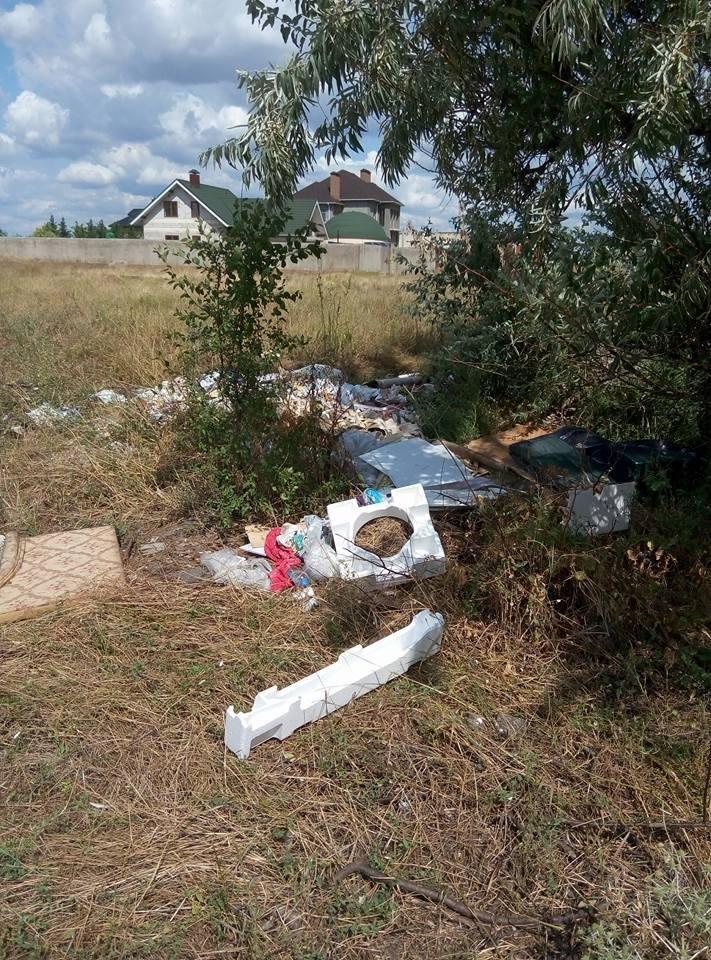 Херсонцы сносят мусор на пустырь (фото), фото-3