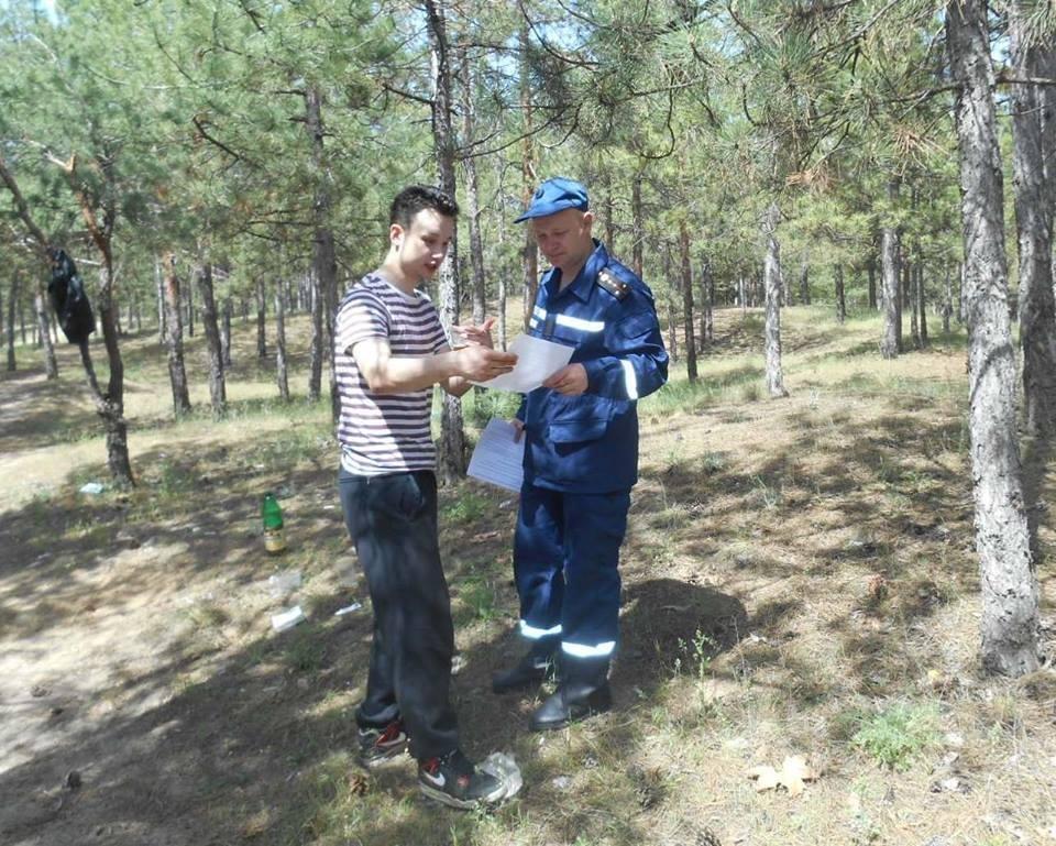 Рятувальники Херсонщини проводили роз'яснення щодо безпеки відпочиваючих, фото-1