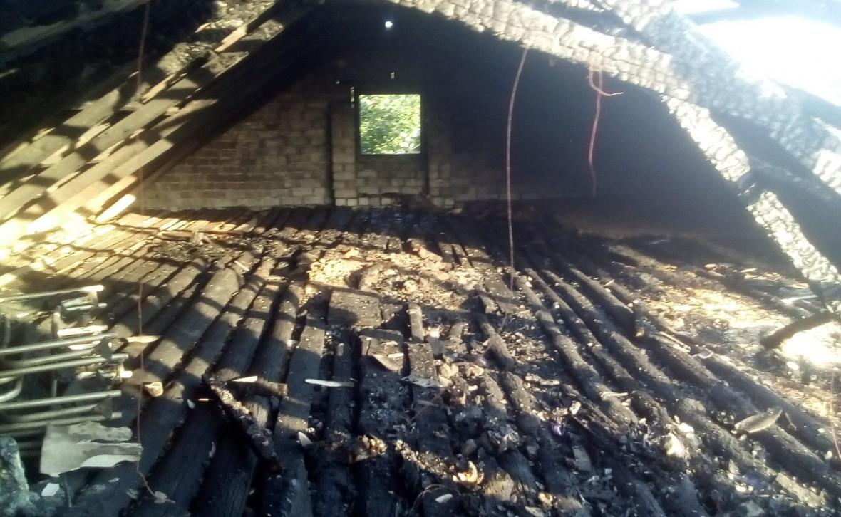 Великоолександрівські рятувальники ліквідували пожежу даху будинку в с. Новодмитрівка, фото-1