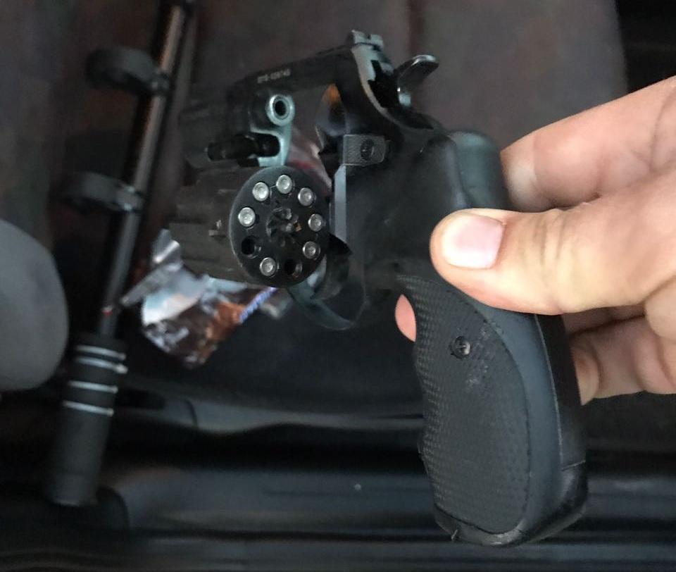 На адмінмежі прикордонники виявили револьвер під патрон «Флобера», фото-1