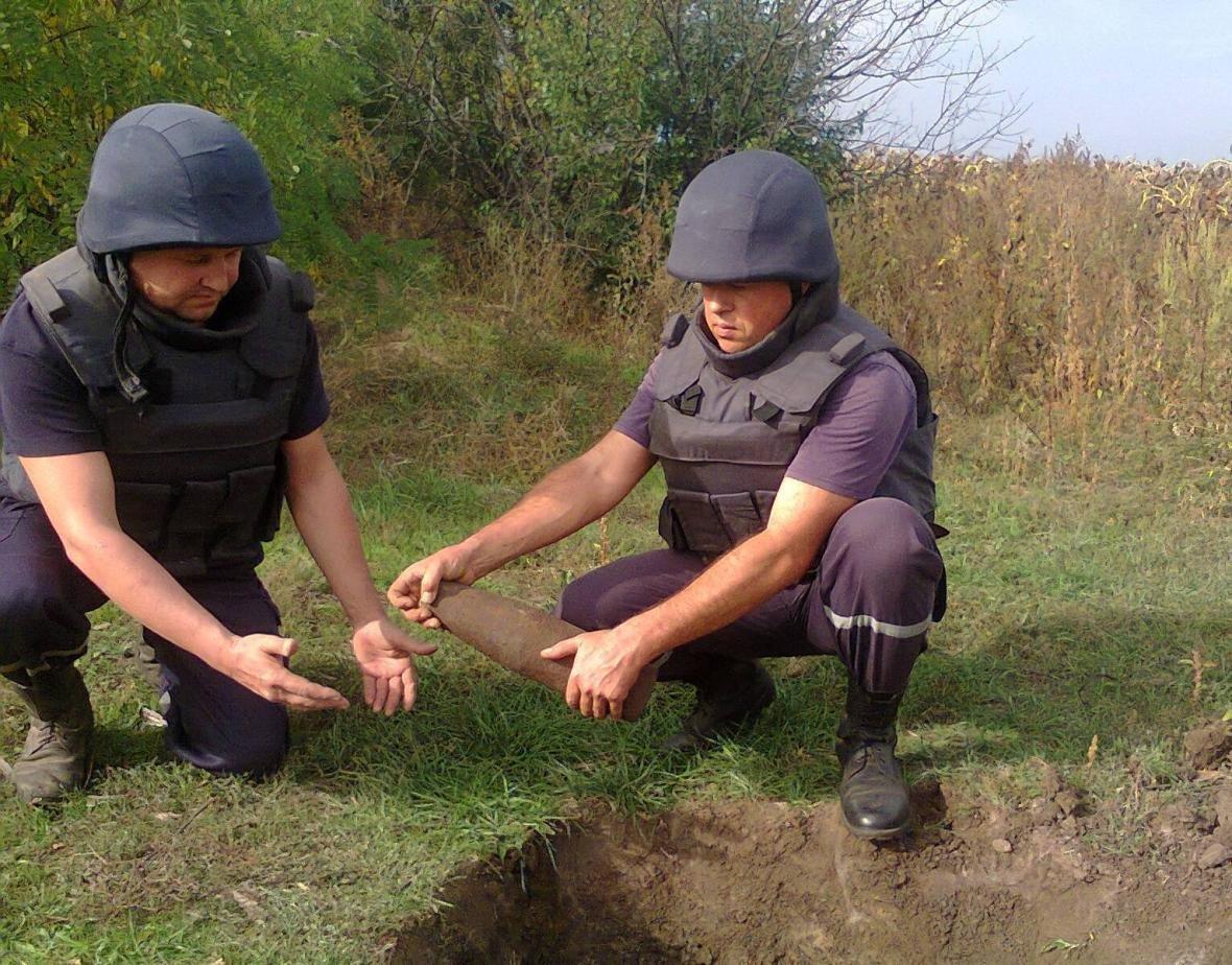 Рятувальники знищили знайдені артснаряди, фото-1