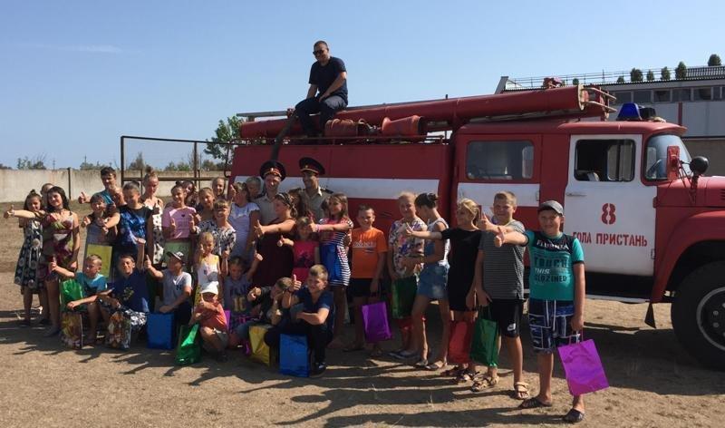 Рятувальники Херсонщини провели громадську акцію для дітей, фото-1