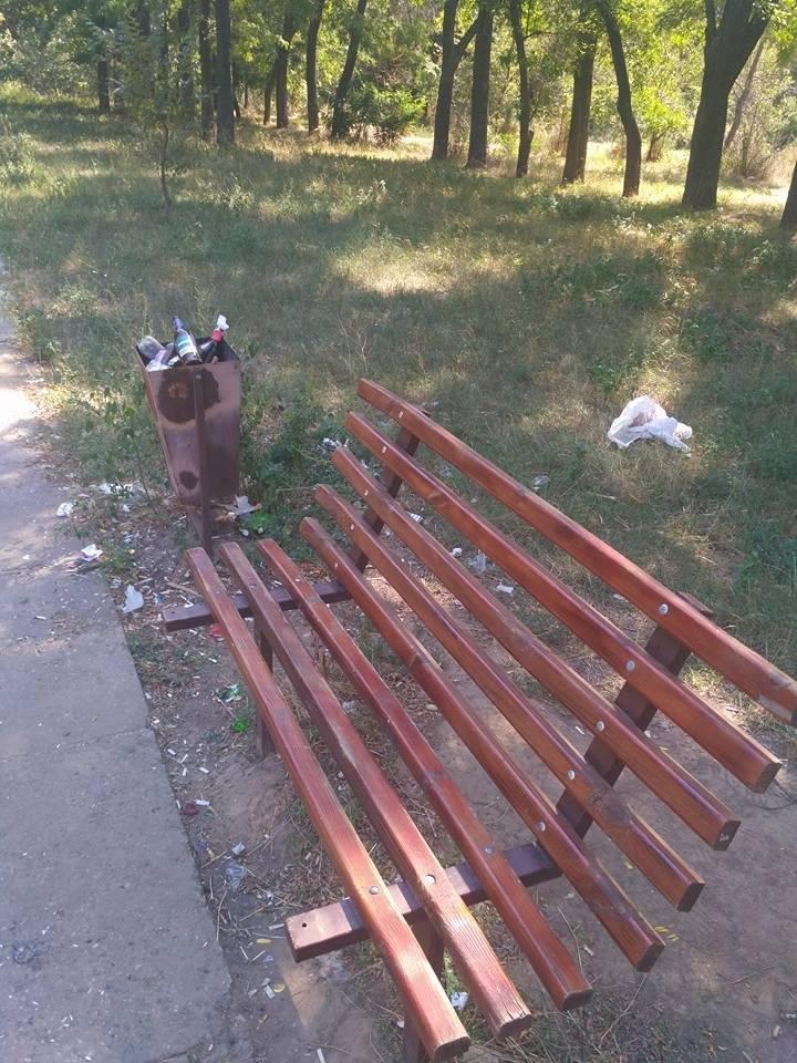 """Последствия """"культурного"""" отдыха херсонцев в парке (фото), фото-1"""