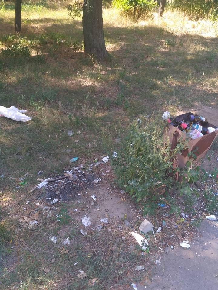 """Последствия """"культурного"""" отдыха херсонцев в парке (фото), фото-2"""