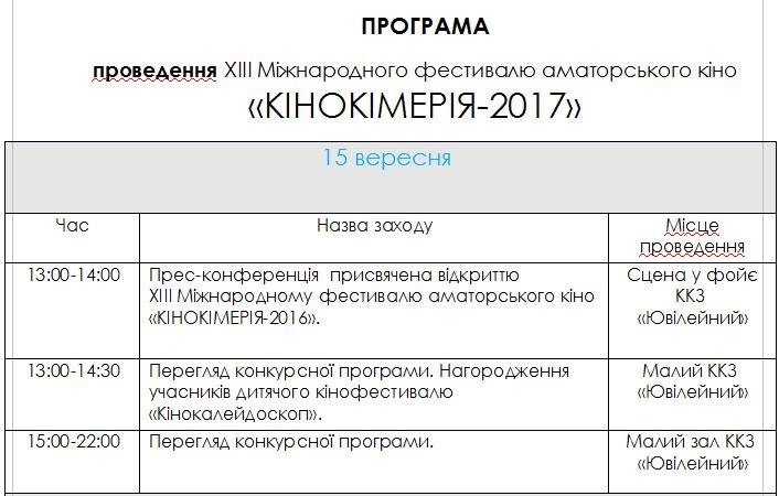 Ежегодный фестиваль «Кинокиммерия» пройдет в Херсоне 15-16 сентября, фото-2